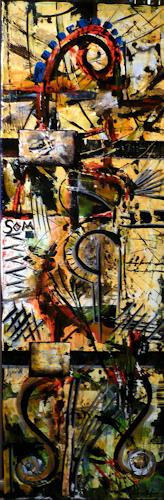 Steve Soon, saflor moresca, Abstract art, Radical Painting