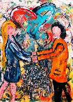 Steve-Soon-People-Couples-Contemporary-Art-Neo-Expressionism