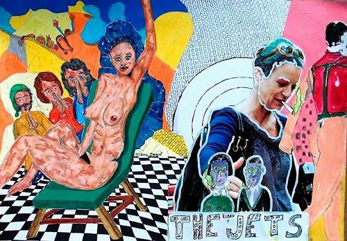 Steve Soon, der grüne Stuhl, Miscellaneous Erotic motifs, Neue Wilde, Abstract Expressionism