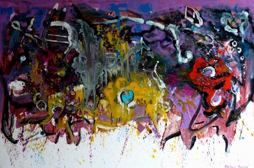 Steve Soon, my godness, Abstract art, Radical Painting