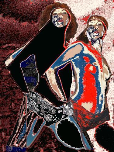Steve Soon, aktstrakt 13, Erotic motifs: Female nudes, Contemporary Art, Abstract Expressionism