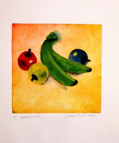 Steve Soon, Stillleben - Obst, Still life, Pop-Art