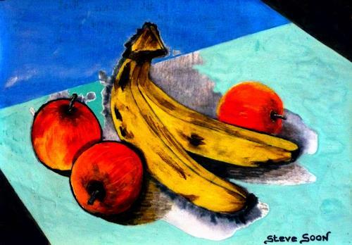 Steve Soon, Stillleben - Obst, Still life, Realism, Abstract Expressionism