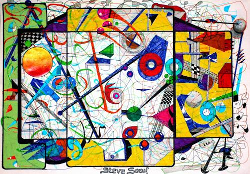 Steve Soon, zwischen Raum und Zeit, Burlesque, Radical Painting, Abstract Expressionism