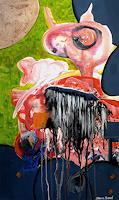Steve-Soon-Burlesque-Abstract-art-Modern-Age-Abstract-Art-Action-Painting