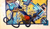 Steve-Soon-Still-life-Plants-Fruits-Modern-Age-Abstract-Art-Radical-Painting