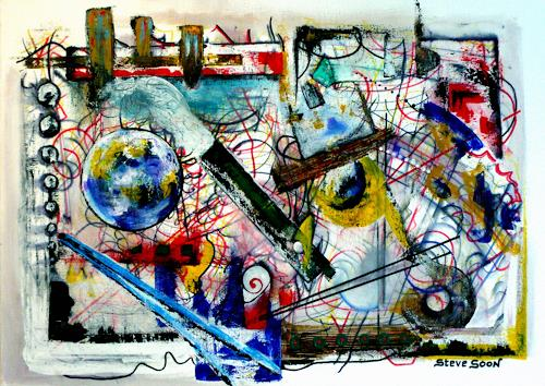 Steve Soon, der stille Beobachter, Abstract art, Radical Painting, Abstract Expressionism