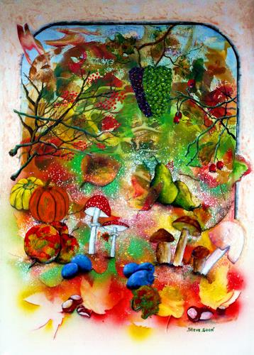 Steve Soon, Golden time, Miscellaneous Plants, Times: Autumn, Naturalism, Abstract Expressionism