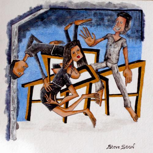 Steve Soon, Objekt der Begierde, People: Group, Miscellaneous Erotic motifs, Neo-Expressionism