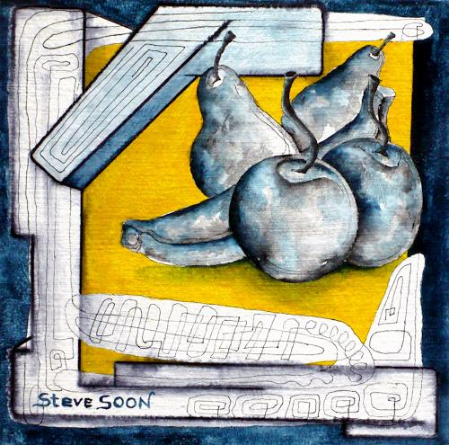 Steve Soon, Obst V, Still life, Plants: Fruits, Modern Times, Abstract Expressionism