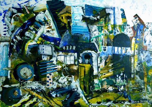 Steve Soon, vor dem Großputz, Abstract art, Radical Painting