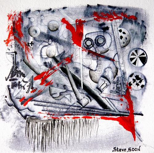 Steve Soon, unforced, Abstract art, Action Painting, Abstract Expressionism