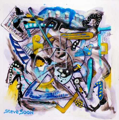 Steve Soon, piddling, Abstract art, Radical Painting