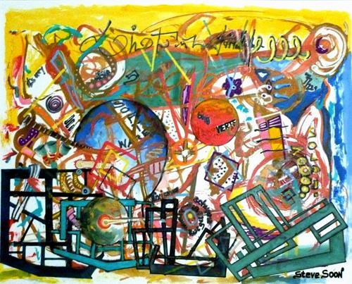 Steve Soon, Meer geht nicht - echt nicht, Abstract art, Miscellaneous, Radical Painting