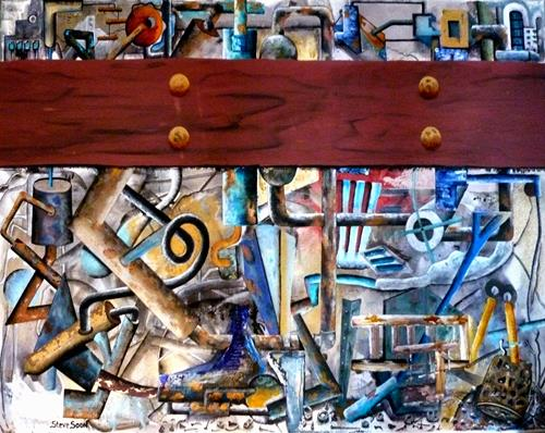 Steve Soon, Blick in die Werkstatt, Technology, Neo-Expressionism, Abstract Expressionism
