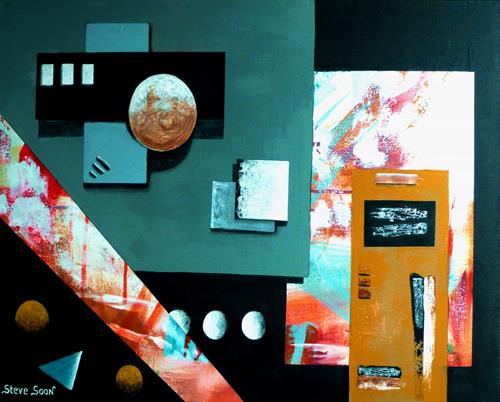 Steve Soon, the center found, Abstract art, Decorative Art, Constructivism, Abstract Expressionism