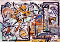 Steve-Soon-Burlesque-Mythology-Modern-Age-Abstract-Art-Radical-Painting