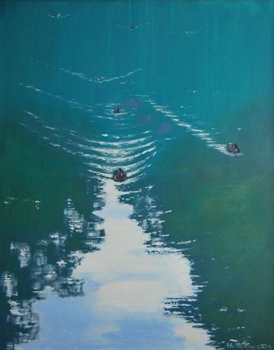 Ulrich Hollmann, Rhumequelle, Times: Summer, Times: Summer, Abstract Art, Expressionism