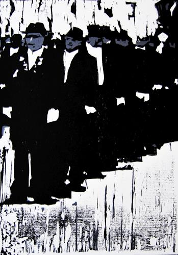 Ulrich Hollmann, Angetreten, People: Group, Miscellaneous People, Neo-Expressionism, Abstract Expressionism