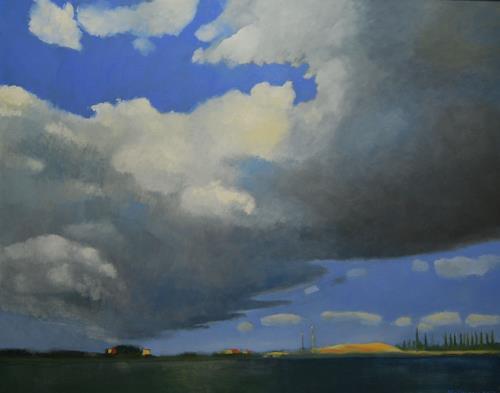 Ulrich Hollmann, Am Kanal, Landscapes: Plains, Nature: Water, Contemporary Art, Expressionism
