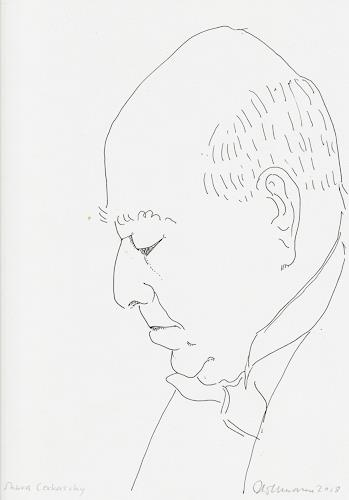 Ulrich Hollmann, Shura Cerkassky, People: Men, Music: Musicians, Contemporary Art, Expressionism
