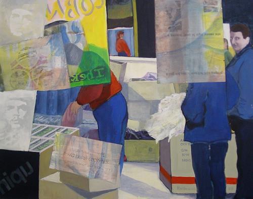 Ulrich Hollmann, Großes Marktbild 27, Market, Situations, Contemporary Art