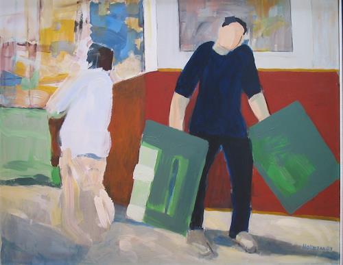 Ulrich Hollmann, Großes Marktbild 8, Market, Situations, Neo-Expressionism, Expressionism