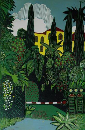 Ulrich Hollmann, Gesperrter Park, Miscellaneous Plants, Landscapes: Summer, Neo-Expressionism