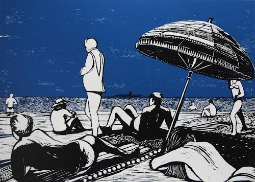 Ulrich Hollmann, Der Flugzeugträger, Leisure, Landscapes: Sea/Ocean, Abstract Expressionism