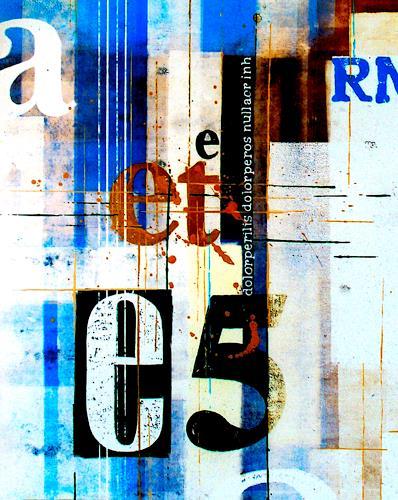 osinger m. rainer, osinger.typoart. et-blauweis, Abstract art, Symbol, Colour Field Painting, Expressionism
