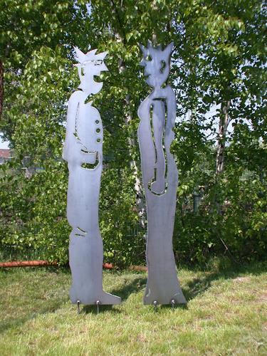 Metall & Gestaltung, Paar, Stahl plasmagetrennt, People: Families, People: Women, Kunst am Bau