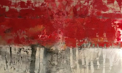 Michael Maderthaner, Illusionen roter Wald, Landscapes, Landscapes, Abstract Art