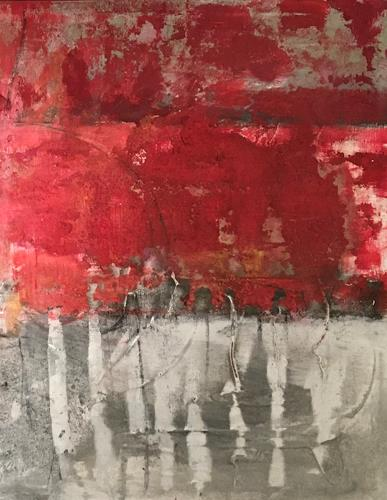 Michael Maderthaner, Illusionen rote Bäume, Landscapes, Landscapes, Abstract Art