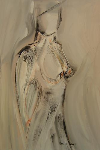 Michael Maderthaner, Akt, Erotic motifs: Female nudes, Abstract art, Contemporary Art, Expressionism