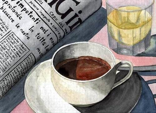 Thomas Suske, Tazza Espresso, Still life, Meal, Concrete Art, Expressionism