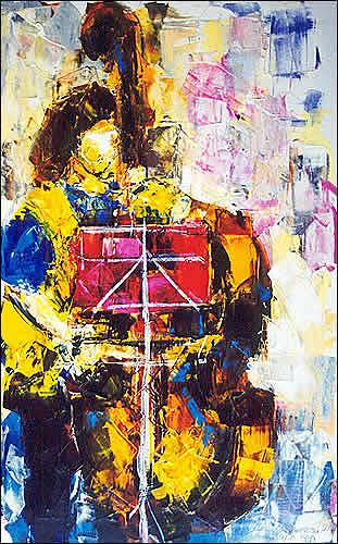 Cecilia Betancourt, Músico en la calle, Expressionism, Post-Impressionism