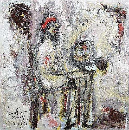 Weltenhalter By Peter Feichter Abstract Art People Men