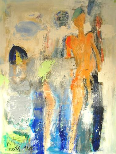 Peter Feichter, N/T, Abstract art, People: Portraits, Neo-Expressionism, Abstract Expressionism