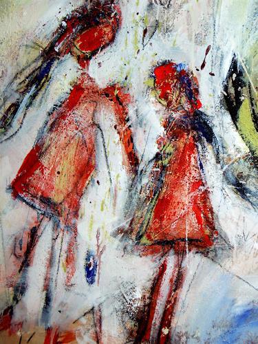 Peter Feichter, Ausschnitt  Mädel,s 2, Abstract art, Abstract Expressionism