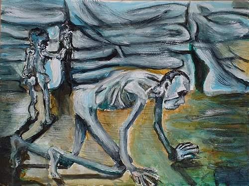 Rudolf Lehmann, Grauenhaft 2., Meal, Emotions: Depression, Neo-Expressionism