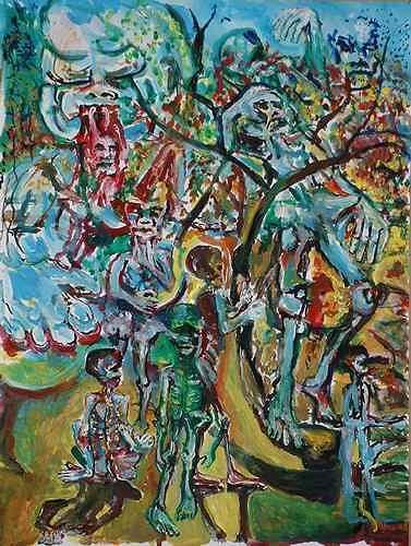 Rudolf Lehmann, Grauenhaft 3., Meal, Emotions: Depression, Neo-Expressionism