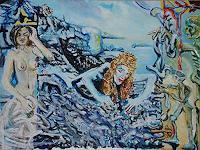 Rudolf-Lehmann-Fantasy-Erotic-motifs-Female-nudes-Contemporary-Art-Neo-Expressionism