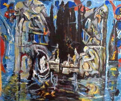 Rudolf Lehmann, Insel der Ignoranz, Landscapes: Sea/Ocean, Abstract art, Neo-Expressionism