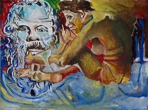 Rudolf Lehmann, Sokrates & Xanthippe, Mythology, Miscellaneous Emotions, Neo-Expressionism