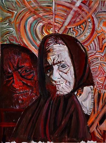 Rudolf Lehmann, Leben in Erinnerungen, People: Women, Emotions: Grief, Neo-Expressionism