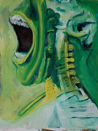 Rudolf Lehmann, Durchleuteter  Schrei, Emotions: Aggression, Emotions: Grief, Neo-Expressionism, Abstract Expressionism