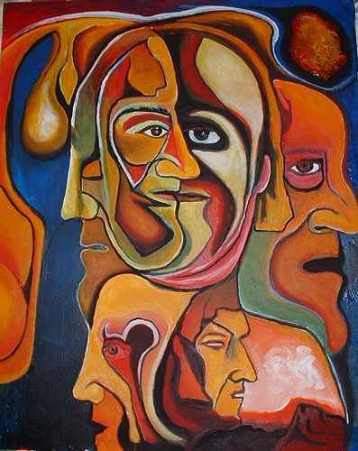 Rudolf Lehmann, Der Pharao, People: Faces, Neo-Expressionism