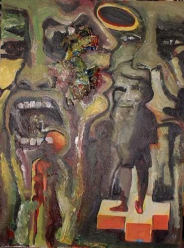 Rudolf Lehmann, Sinnlos Figuren in einer sinnlosen Welt, Society, People: Group, Neo-Expressionism