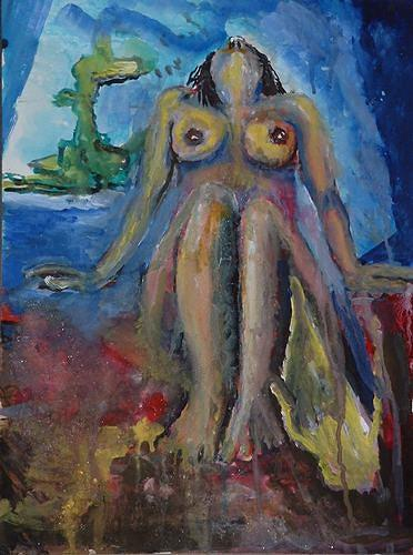 Rudolf Lehmann, Aphrodite, Erotic motifs: Female nudes, Mythology, Neo-Expressionism