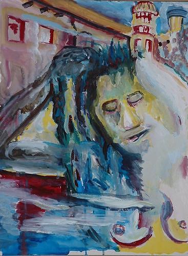 Rudolf Lehmann, Harem, Movement, Erotic motifs: Female nudes, Neo-Expressionism